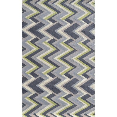 Anse Hand-Hooked Gray Indoor/Outdoor Area Rug Rug Size: 76 x 96