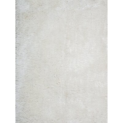 Vanessa Hand-Tufted White Area Rug Rug Size: 5 x 7