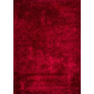 Vanessa Hand-Tufted Red Area Rug Rug Size: 5 x 7
