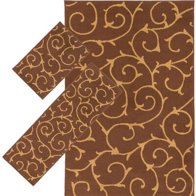 Caroga Brown 3 Piece Area Rug Set