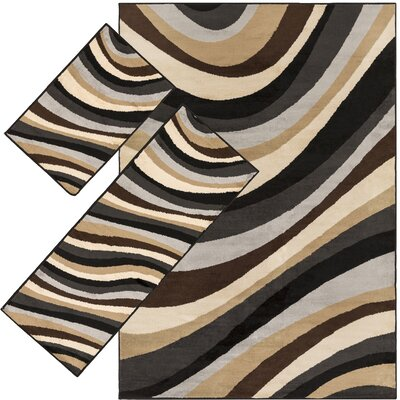 Chandler Brown 3 Piece Area Rug Set