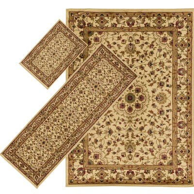 Edgecomb Green 3 Piece Indoor/Outdoor Area Rug Set
