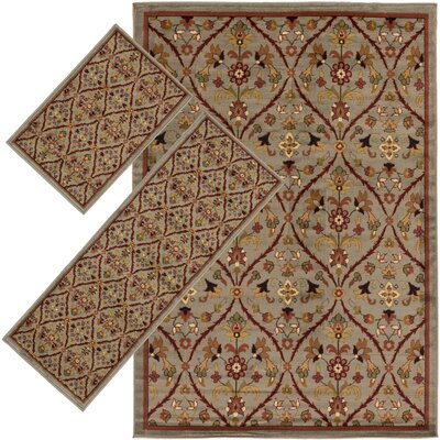 Simsbury Blue 3 Piece Indoor/Outdoor Area Rug Set