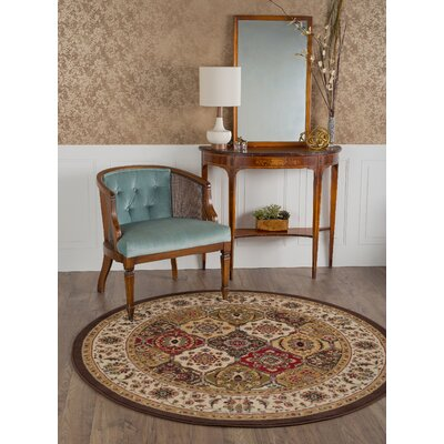 Colesville Brown Area Rug Rug Size: Round 53