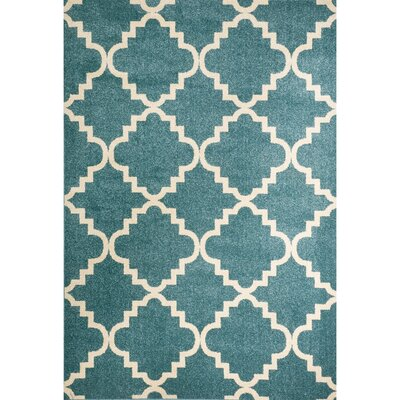 Darcy Green Indoor/Outdoor Area Rug Rug Size: 5 x 73