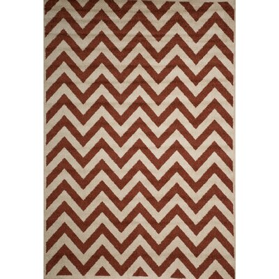 Darcy Bone/Clay Indoor/Outdoor Area Rug Rug Size: 710 x 910