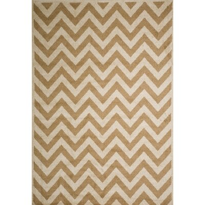 Darcy Bone/Sand Indoor/Outdoor Area Rug Rug Size: 5 x 73