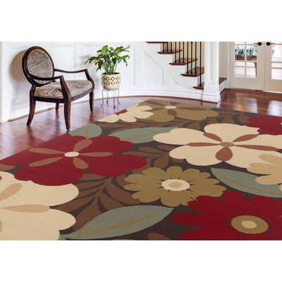 Colesville Brown Area Rug Rug Size: Oval 53 x 73