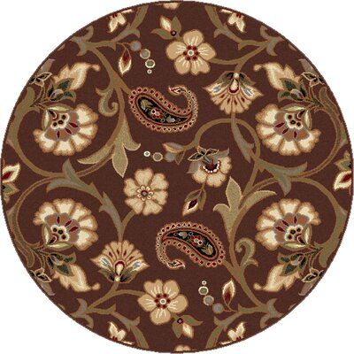 Bayou Brown Area Rug Rug Size: Round 710