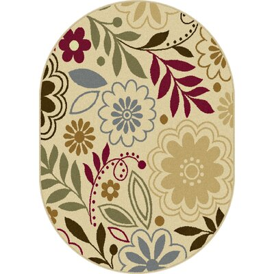 Ulster Beige Area Rug Rug Size: Oval 53 x 73