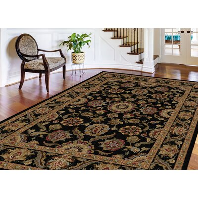 Richmond Black/Gold Area Rug Rug Size: Rectangle 53 x 73