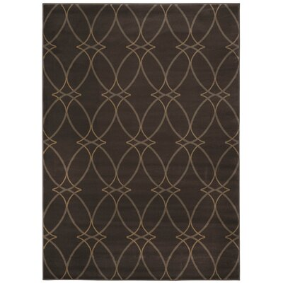 Brown Area Rug Rug Size: 53 x 73