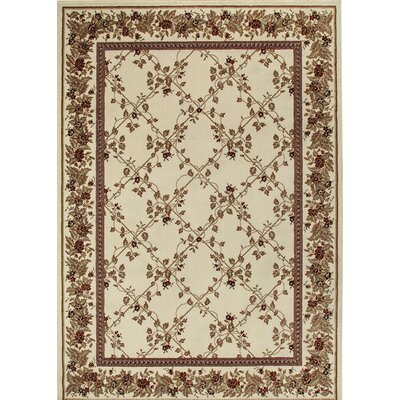 Westminster Ivory Area Rug Rug Size: 910 x 1210