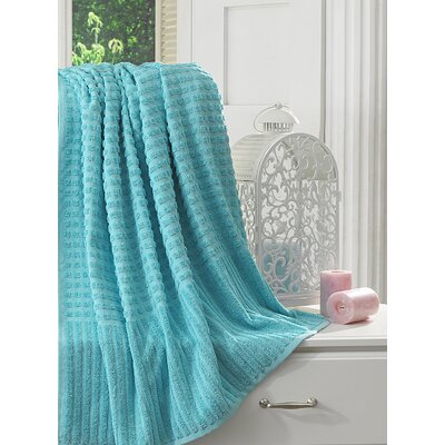 Yorkshire Piano Bath Sheet Color: Aqua Blue