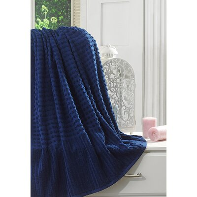Yorkshire Piano Bath Sheet Color: Midnight Blue