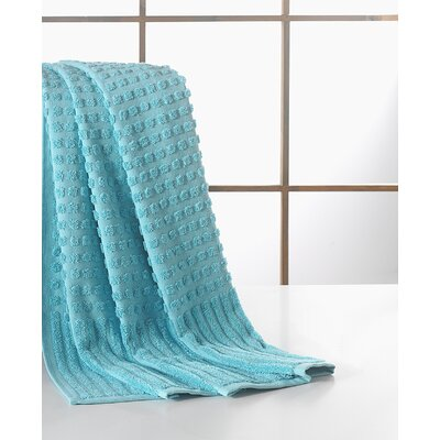 Yorkshire Piano Bath Towel Color: Aqua Blue