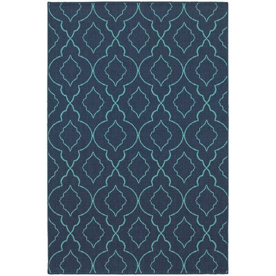 Kailani Navy/Blue Indoor/Outdoor Area Rug Rug Size: Rectangle 37 x 57