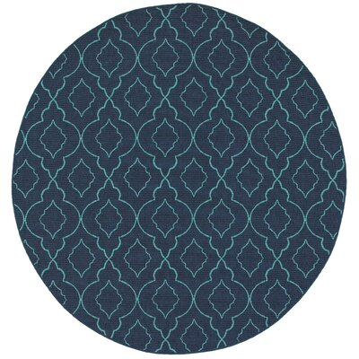 Kailani Navy/Blue Indoor/Outdoor Area Rug Rug Size: Round 710