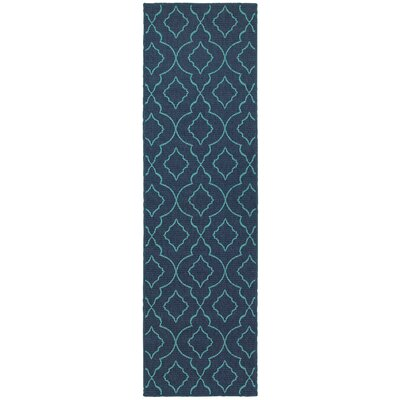 Kailani Navy/Blue Indoor/Outdoor Area Rug Rug Size: Runner 23 x 77