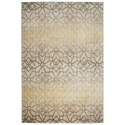 Culver Floral/Geometric Ivory Area Rug Rug Size: Rectangle 93 x 126