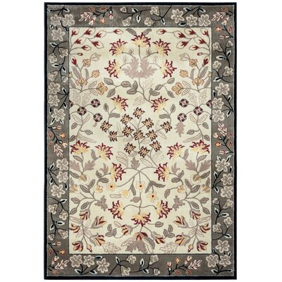 Culver Ivory Area Rug Rug Size: 53 x 77