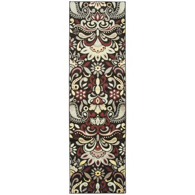 Culver Floral Brown Area Rug Rug Size: Runner 23 x 77