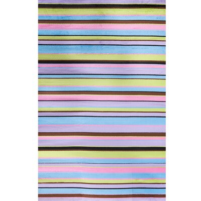 Alisa Stripes Kids Area Rug Rug Size: 27 x 41