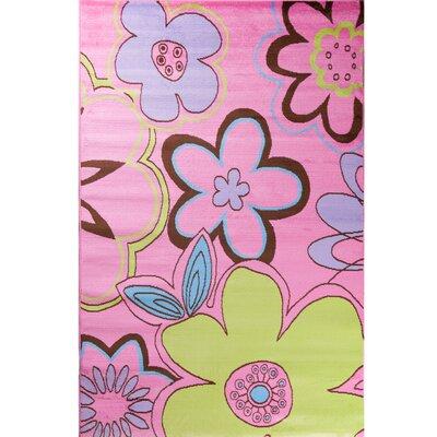 Alisa Groovy Flowers Kids Area Rug Rug Size: 34 x 5