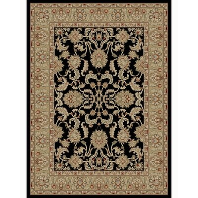 Ankara Oushak Black Rug Rug Size: Rectangle 53 x 73