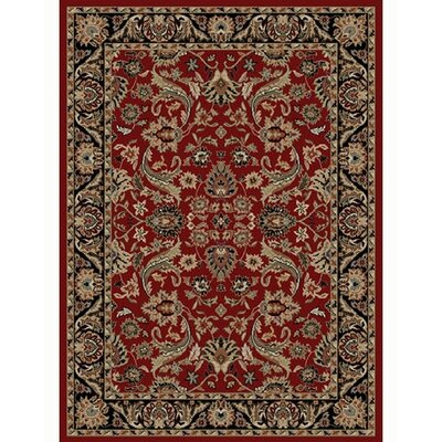 Ankara Sultanabad Red Area Rug Rug Size: 93 x 126