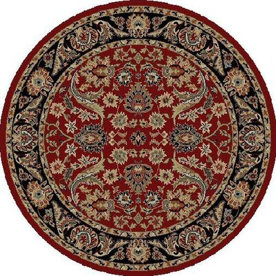 Ankara Sultanabad Red Area Rug Rug Size: Round 53