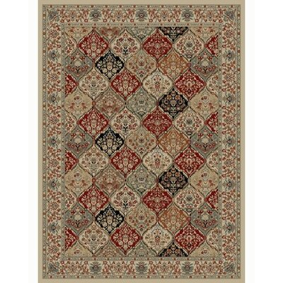 Ankara Bakhtiar Ivory Rug Rug Size: Rectangle 93 x 126