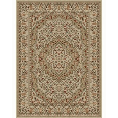 Ankara Kerman Ivory Rug Rug Size: Rectangle 53 x 73