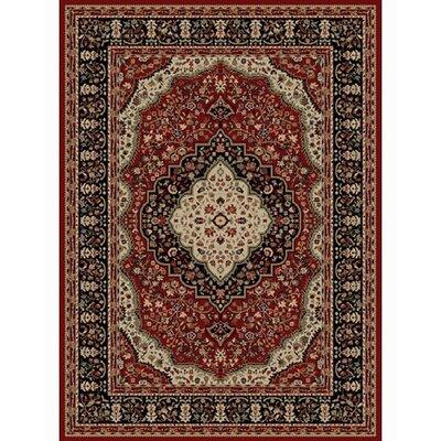 Ankara Kerman Red Rug Rug Size: 93 x 126