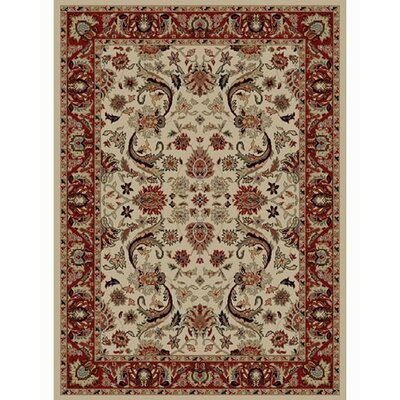 Ankara Sultanabad Ivory Rug Rug Size: Rectangle 93 x 126