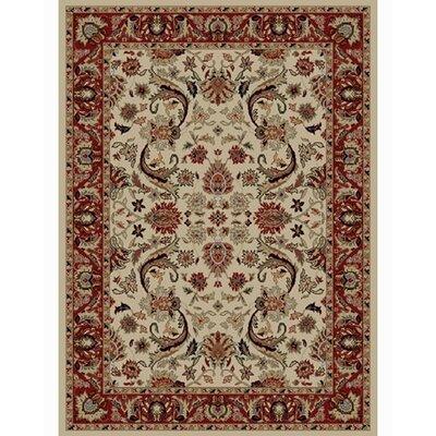 Ankara Sultanabad Ivory Rug Rug Size: 93 x 126