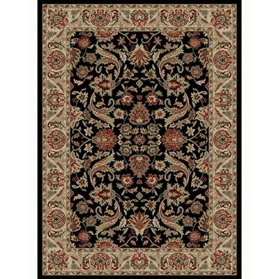 Ankara Sultanabad Black Rug Rug Size: Rectangle 93 x 126