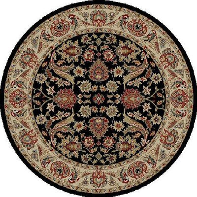 Ankara Sultanabad Black Rug Rug Size: Round 710