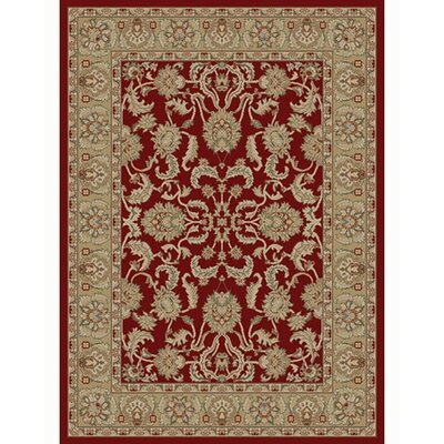 Ankara Oushak Red Rug Rug Size: Rectangle 93 x 126