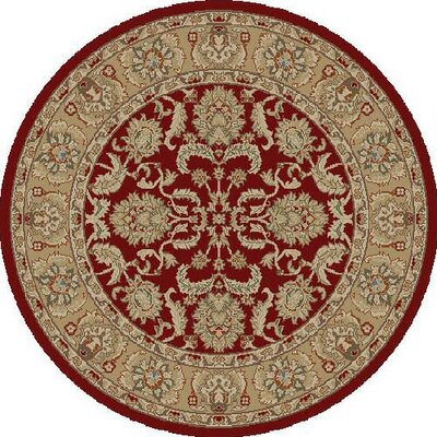 Ankara Oushak Red Rug Rug Size: Round 53