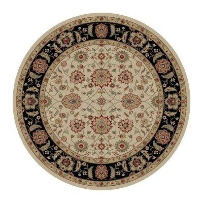 Ankara Zeigler Ivory Rug Rug Size: Round 53