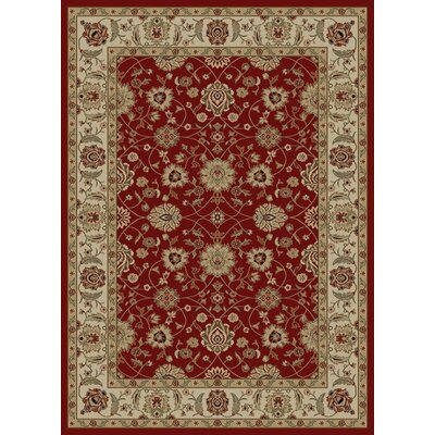 Ankara Zeigler Red Rug Rug Size: Rectangle 93 x 126