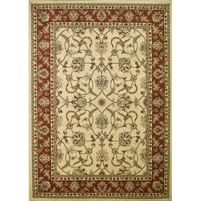 Chester Sultan Ivory Rug Rug Size: Rectangle 67 x 93