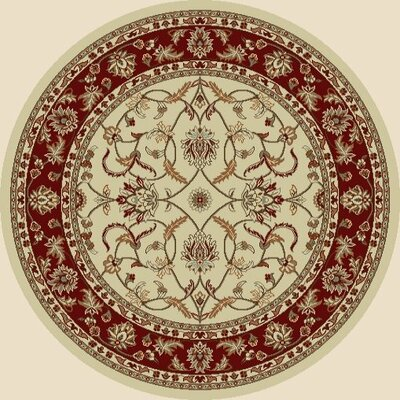 Chester Sultan Ivory Rug Rug Size: Round 53