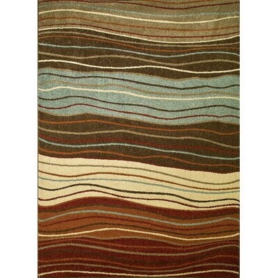 Chester Waves Multi Area Rug Rug Size: Rectangle 27 x 41
