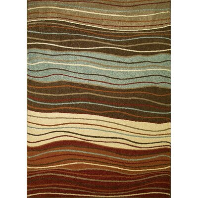 Chester Waves Multi Area Rug Rug Size: 53 x 73