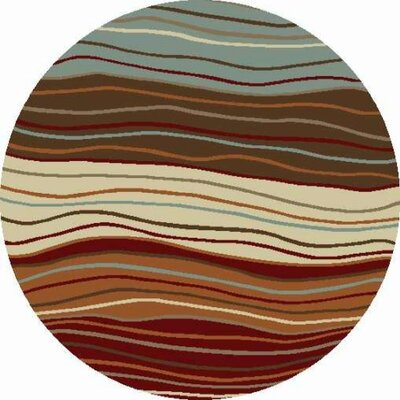 Chester Waves Multi Area Rug Rug Size: Round 7'10