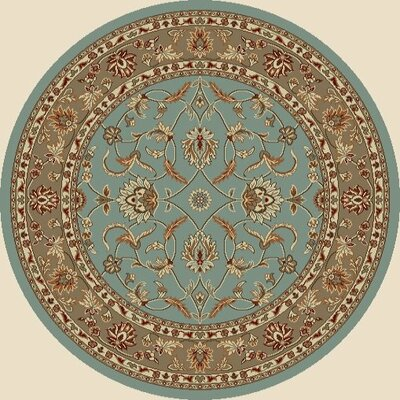 Chester Country Blue Rug Rug Size: Round 53