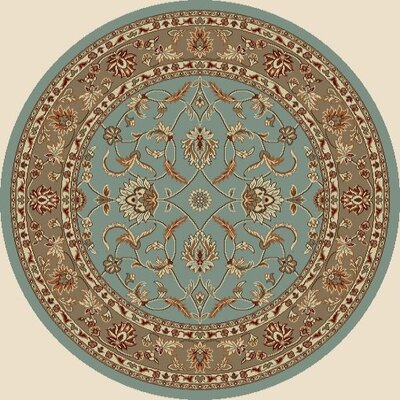 Chester Country Blue Rug Rug Size: Round 710