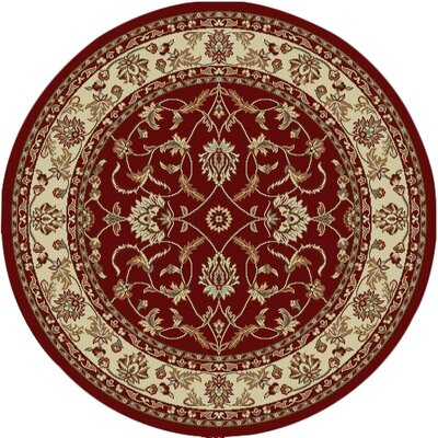 Chester Sultan Red Area Rug Rug Size: Round 53